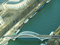Bridge at Seine River. Paris France. Photo was taken from Eiffel Tower stock image