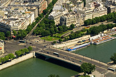 Bridge on the Seine river, Paris Royalty Free Stock Photography