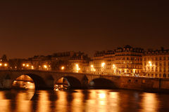 Bridge on Seine river in Paris, France royalty free stock image