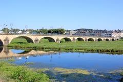 Bridge at Selles sur cher Stock Image