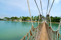 Bridge in Sentosa Royalty Free Stock Photography