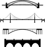 Bridge set. Black white bridge Royalty Free Stock Photography