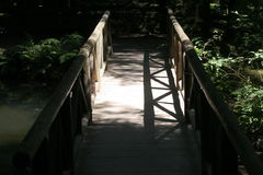 Bridge in shadow Royalty Free Stock Images