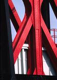 Bridge Shapes. A close up of a Bridge in Salford Stock Photo