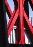 Bridge Shapes. A close up of a Bridge in Salford stock photo