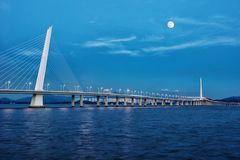 The bridge of shenzhen bay. In ShenZhen City, GuangDong Province of China.landscape and so on Stock Image