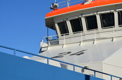 Bridge of a ship. The bridge of a customs patrol ship Stock Photo