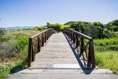 Bridge in Shoreline Park, Mountain View, California stock photography