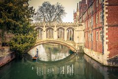 The Bridge of Sigh, Cambridge. The Bridge of Sigh at Saint John's College, Cambridge Stock Image