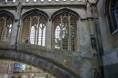 The Bridge of Sigh at Saint John's College, Cambridge. England Royalty Free Stock Images
