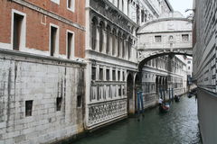 The bridge of sighs. A detail from Venice - Italy stock photo