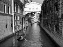 Bridge Of Sighs. Bridge of Sigh Venice, Italy B&W Stock Photo