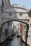 The Bridge of Sighs, architectural detail Stock Image