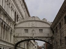 The bridge of sighs in beautifull Venice the most romatic city in all of Italy stock photo