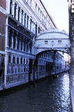 The bridge of sighs in a blue light Royalty Free Stock Images