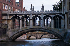 Bridge of Sighs, Cambridge. stock images