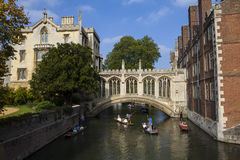 Bridge of Sighs in Cambridge Royalty Free Stock Photography