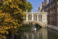 Bridge of Sighs in Cambridge Royalty Free Stock Photos