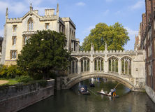 Bridge of Sighs in Cambridge Stock Images