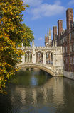 Bridge of Sighs in Cambridge Stock Photography