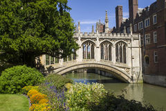 Bridge of Sighs in Cambridge Royalty Free Stock Image