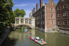 Bridge of Sighs in Cambridge Stock Photos