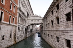 The Bridge of Sighs canal Royalty Free Stock Photo