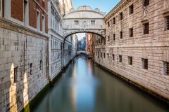 Bridge of Sighs and Doge's Palace in Venice Stock Photos