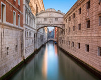 Bridge of Sighs and Doge`s Palace in Venice, Italy. Bridge of Sighs and Doge`s Palace in Venice Italy Stock Photography