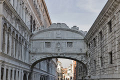Bridge of Sighs at Doge`s Palace, in Venice, Italy Royalty Free Stock Photo