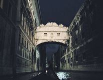The Bridge of Sighs in Venice, Italy stock photo