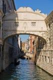 Bridge of sighs with gondola under the bridge in Venice Royalty Free Stock Image