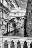 Bridge of Sighs and gondola in Venice. Italy Stock Photo
