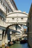 Bridge of Sighs and gondolas Stock Image