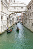 Bridge of Sighs i Venice Italy royalty free stock image