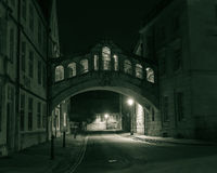 Bridge of Sighs by night Royalty Free Stock Image
