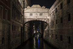 Bridge of Sighs at night Royalty Free Stock Photography