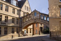 Bridge of Sighs, Oxford. Bridge of Sighs and New College Lane, Oxford Stock Image