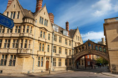 Bridge of Sighs. Oxford, England royalty free stock image