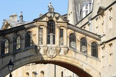 Bridge of Sighs in Oxford England Royalty Free Stock Images