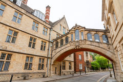 Bridge of Sighs. Oxford, England. The Bridge of Sighs between Hertford College university buildings. New College Lane, Oxford, Oxfordshire, England Stock Images