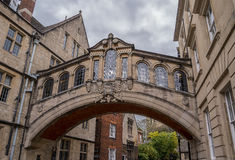 The Bridge of Sighs in Oxford Stock Photo