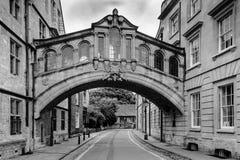 Bridge of sighs, Oxford - looking east Stock Photos