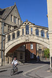 Bridge of Sighs in Oxford Stock Image