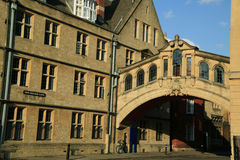 Bridge of Sighs Oxford University. The Bridge of Sighs across New College Street in Oxford connects the buildings of Oxford University's, Hertford College Royalty Free Stock Photography