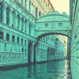 The Bridge of Sighs in Venice Stock Image