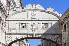Bridge of Sighs Ponte dei Sospiri, view from Ponte della Paglia,  Venice, Italy. Bridge of Sighs Ponte dei Sospiri, Venice, Italy. Bridge was built in in the Royalty Free Stock Images