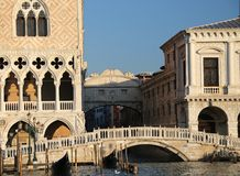 Bridge of sighs and the prisons of Venice Royalty Free Stock Photography