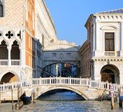 Bridge of sighs and the prisons of Venice Royalty Free Stock Photos