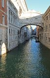 Bridge of sighs and the prisons of Venice Stock Images